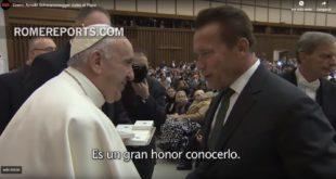 Arnold Schwarzenegger visita al Papa
