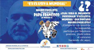 Grafiti del Super Papa Francisco, ¿Quién es el siguiente?